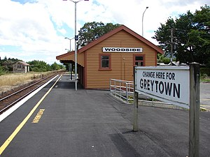 Wairarapa Line - Woodside Railway Station