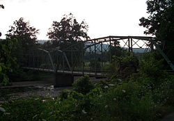 Historic Woolsey Bridge over the West Fork, White River