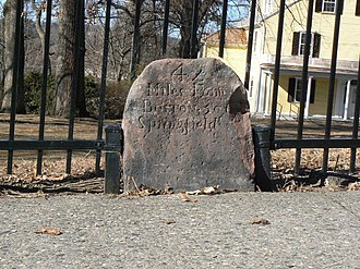 National Register of Historic Places listings in northwestern Worcester, Massachusetts - Image: Worcester MA Milestone 47