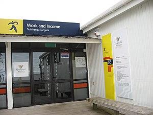 Work and Income shopfront on Waiheke Island.