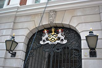 Worshipful Company of Dyers - The current hall, designed by Charles Dyer in 1839-40, at 11-13 Dowgate Hill