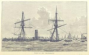 SS Deutschland (1866) - The wreck of the Deutschland