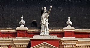 Writers' Building - Statue of Minerva atop Writers' Building