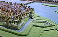 Wycker vestingwerken met Sint-Maartensbastion en lunet Sint-Antonie, detail kopie Maquette van Maastricht, collectie Centre Céramique.JPG