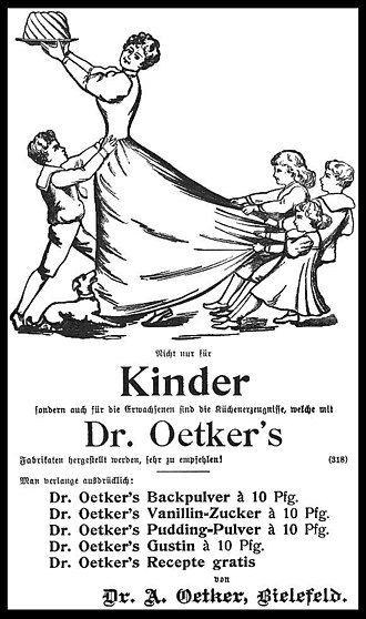 Baking powder - German advertisement for Dr. Oetker's baking powder in 1903.
