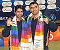 XIX Commonwealth Games-2010 Delhi Abhinav Bindra and Gagan Narang of India won the gold medal in 10m Air Rifle Men (Pair) event, at Dr. Karni Singh Shooting Range, in New Delhi on October 05, 2010.jpg