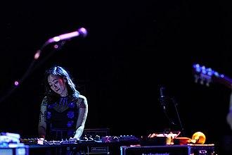 Xiu Xiu - Xiu Xiu members Jamie Stewart, Shayna Dunkelman and Angela Seo in Aarhus Denmark 2017