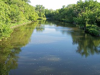 Yellow Medicine River - The Yellow Medicine River in Minnesota Falls Township in 2007