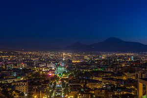Erevāna: Yerevan at night