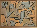 Young Moe, Paul Klee, 1938, colored paste on newspaper on burlap - Phillips Collection - DSC04935.JPG