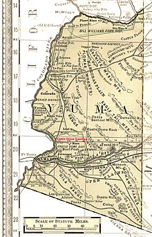 Map Of Arizona Ghost Towns.Castle Dome Landing Arizona Wikipedia