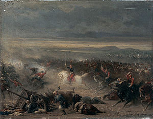 Battle of Eupatoria - The charge of the French cavalry during the battle of Eupatoria, by Adolphe Yvon