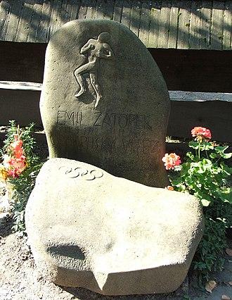 Emil Zátopek - Grave of Emil Zátopek in Rožnov pod Radhoštěm