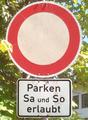 Zeichen 250 mit Zusatzschild 853, StVO 1970.png