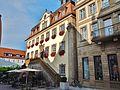 Zelle 18 Restaurant Cocktail-Bar Sommerterrasse Biergarten, Historisches Rathaus, 1544 Erstes Rathaus, 1782 Bau des Rokoko-Rathauses nach dem Entwurf des Baumeisters Franz Häfele, 1985 Sanierung und Umbau - panoramio.jpg