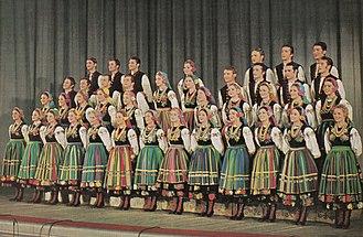 Mazowsze (folk group) - Mazowsze in the 1970s.