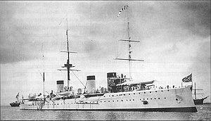 Izumrud-class cruiser - Zhemchug in Vladivostok in 1906