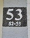 zijgevel, detail van huisnummer - maastricht - 20335433 - rce