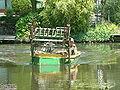 Zoetermeer De Leyens Broekwegwetering Mowing boat (1).JPG