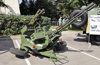 ZU-23-2 Type of Towed 23mm Anti-Aircraft Twin Autocannon