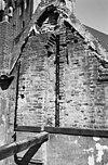 zuidelijke geveltop na sloop van de kap van het buurthuis - deventer - 20055980 - rce