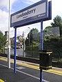 """""""Londonderry"""" sign, Waterside - geograph.org.uk - 1472857.jpg"""
