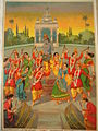 """Ras-krida""- the gopis and gopas dance what looks like a bhangra .jpg"