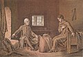 """Runeberg visiting Ensign Stål"". Illustration, Society of Swedish Literature in Finland, Runebergbibliotekets bildsamling, slsa1160 572.jpg"