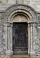 'Berfrestone' (DB) door and tympanum arch St Nicholas Church Barfrestone Kent England 1.jpg