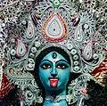 (কালী প্রতিমার অতিনিকট চিত্র) - সুকান্ত পার্ক শিশু উদ্যান নারায়ানতলা কালীপুজো ২০১৮.jpg