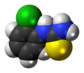 (2-Chlorophenyl)thiourea molecule spacefill.png