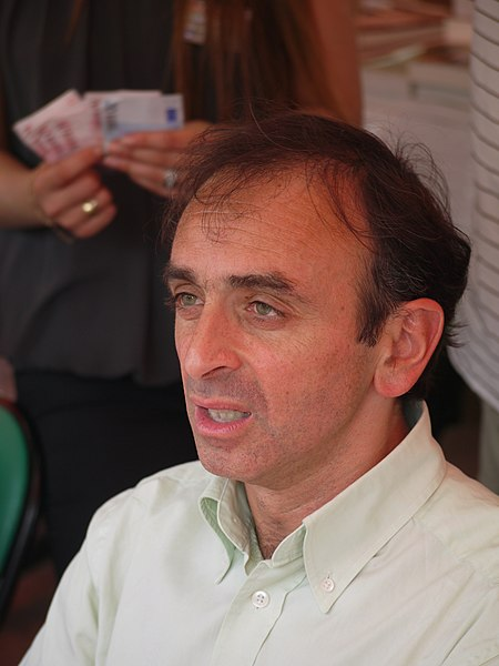 Éric Zemmour. Autor: Esby (talk), 29/05/2010. Fuente: Wikimedia Commons (CC BY-SA 4.0)