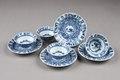 Östasiatisk keramik. Koppar med fat, 4 st - Hallwylska museet - 95771.tif