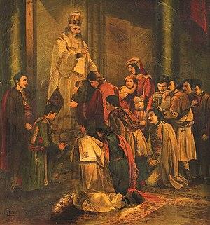 Đorđe Krstić - Image: Đorđe Krstić, Свети Сава Благосиља Српчад, 1891