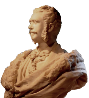 George Barbu Știrbei - Bust of Știrbei by his wife Valérie Simonin