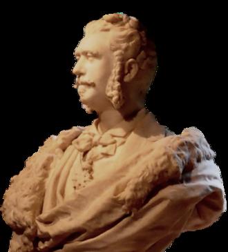 George Barbu Știrbei - Bust of Știrbei by his wife Valérie Simonin