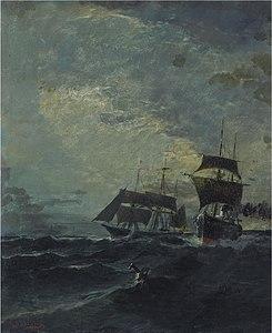 Κωνσταντίνος Βολανάκης - Βάρκες στη θάλασσα.jpg