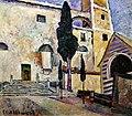 Машков И. И., Кипарис у соборной стены. Италия. 1913г.jpg