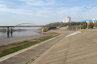 Belaya River (Kama) - Belaya River in Ufa