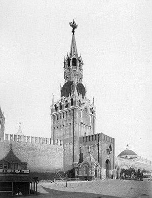 Spasskaya Tower - Image: Спасская башня (1880 е)