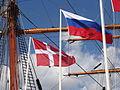 Флаги Дании и России.JPG
