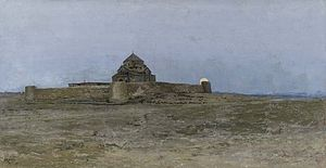 Saint Hripsime Church - Painting of the church by Vardges Sureniants, 1879