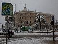 שלג בירושלים 01.2013 בניין טרה סנטה.jpg