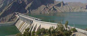 Minab River - Minab reservoir.