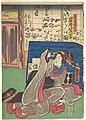 岩井紫若(二代目)の道具屋娘おかめ-Iwai Shijaku II as Okame, the Daughter of a Furniture Store MET DP149025.jpg
