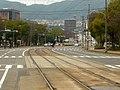 広島電鉄 西観音町電停より Nishi-kan'onmachi 2011.1.05 - panoramio.jpg