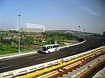 机场快轨即将到达北京机场T3航站楼 - panoramio.jpg
