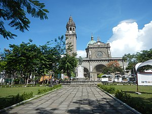 Plaza de Roma - Plaza de Roma is dominated by the Manila Cathedral, the seat of the Roman Catholic Archdiocese of Manila.