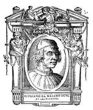 Giuliano da Maiano - Portrait of Giuliano da Maiano from Vasari's Lives.