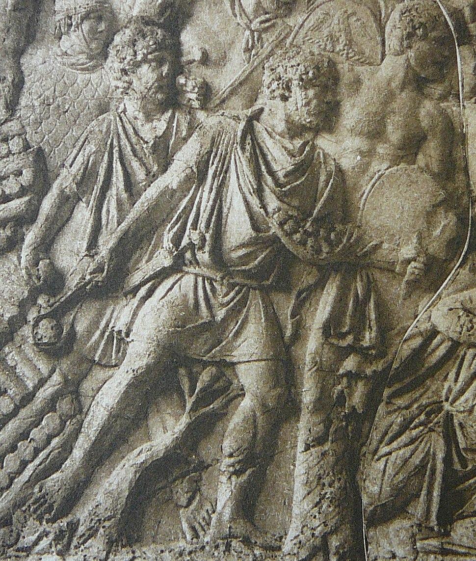 047 Conrad Cichorius, Die Reliefs der Traianssäule, Tafel XLVII (Ausschnitt 03)